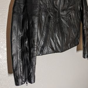 Wilsons Leather Jackets & Coats - 70s Wilson's Leather Black Cropped Moto Jacket